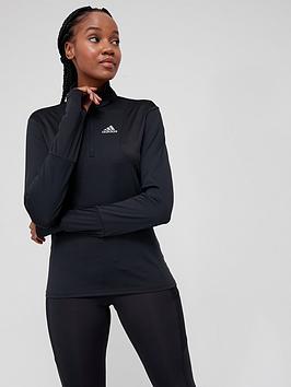 adidas-own-the-run-12-zip-top-black
