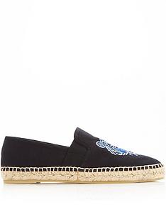 kenzo-tiger-head-canvas-espadrilles-black