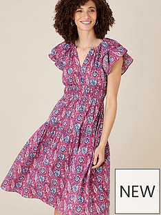 monsoon-woodblock-print-midi-dress-pink