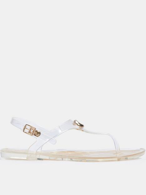 coach-natalee-rubber-jelly-sandals-clear