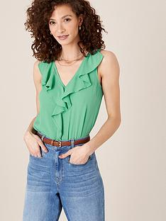 monsoon-ruffle-front-tank-top-green