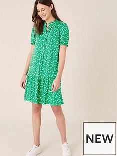 monsoon-cosima-ditsy-printed-short-dress-green