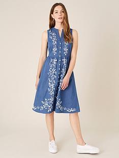 monsoon-embroidered-denim-dress