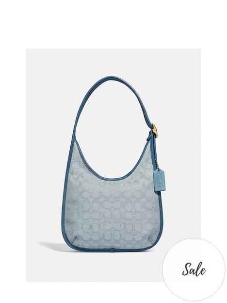 coach-ergonbspsignature-jacquardnbspshoulder-bag-blue