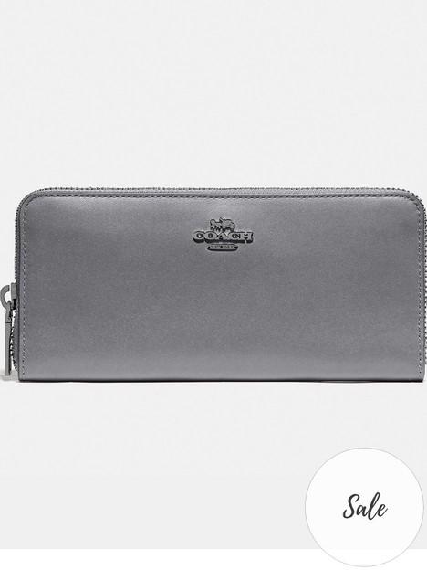 coach-smooth-leather-slim-accordion-zip-wallet-grey