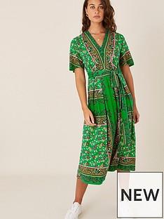 monsoon-raegan-heritage-print-midi-dress-green