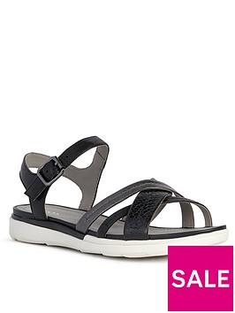 geox-hiver-leather-flat-sandal--nbsp-black