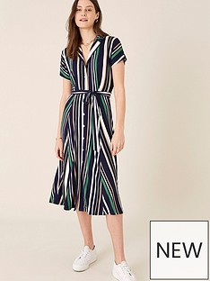 monsoon-sara-striped-midi-dress-navy