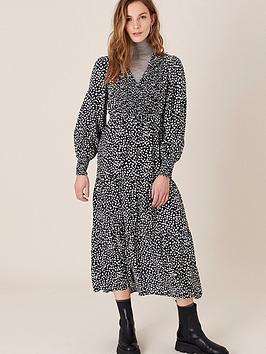 monsoon-heart-print-monochromenbspmidi-dress-black