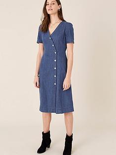 monsoon-wrap-v-neck-midi-denim-dress--nbspdenimnbspblue