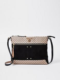 river-island-monogram-soft-messenger-bag-black