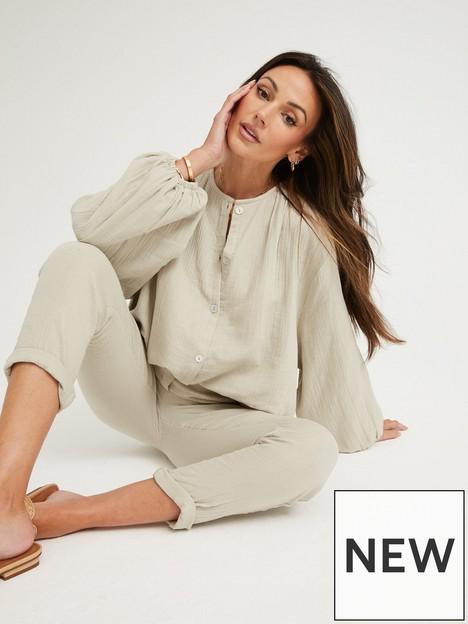 michelle-keegan-button-through-crinkle-blouse-co-ord-grey