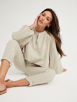 michelle-keegan-button-through-crinkle-co-ord-oversized-blousenbsp--grey