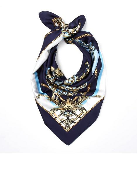 river-island-monogram-chain-print-scarf-navy