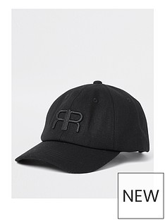 river-island-embroidered-rr-cotton-cap-black