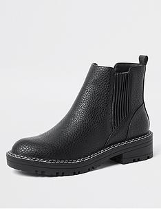 river-island-chunky-flat-chelsea-boot-black