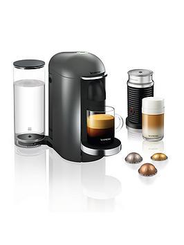 Nespresso Vertuo Plus Xn902T40 Coffee Machine With Aeroccino Milk Frother By Krups - Titanium