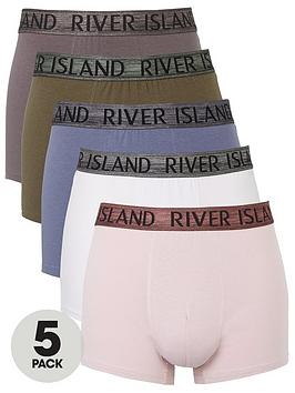 river-island-5-pack-metallic-waistband-trunks-multi