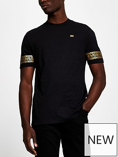 river-island-monogram-sleeve-t-shirt-black