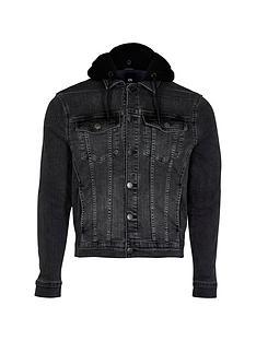 river-island-big-tall-black-hooded-denim-jacket