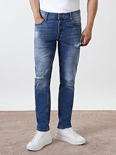 river-island-ripped-slim-fit-jeans-blue
