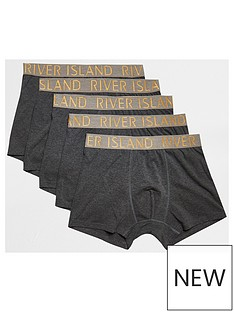 river-island-gold-waistband-5-pack-trunk-grey-marl