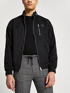 river-island-nylonnbspchest-pocket-racer-jacketnbsp--black