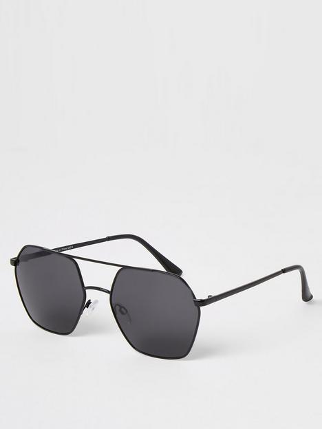 river-island-hexagon-shape-aviator-sunglasses-black