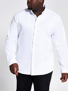 river-island-big-and-tallnbsplong-sleeve-oxford-shirt-white