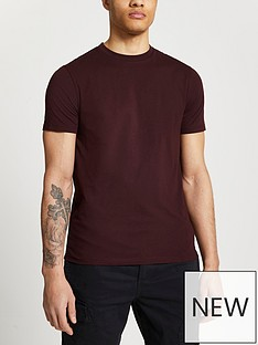 river-island-red-burg-ss-mb-slim-tee