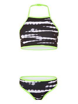 Monsoon Girls Storm Tie Dye Bikini - Black