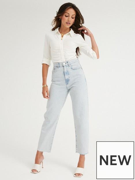 michelle-keegan-button-through-jersey-bodysuit-white