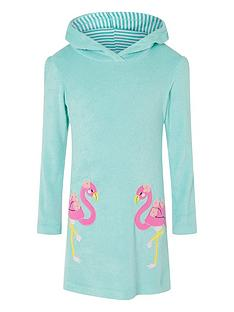 monsoon-girls-flamingo-towelling-dress-turquoise