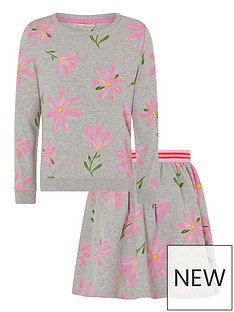 monsoon-girls-sew-floral-sweat-top-and-skirt-set-grey