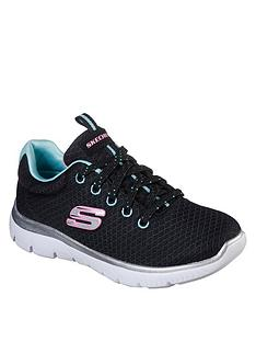 skechers-summits-simply-special-lace-trainer-black