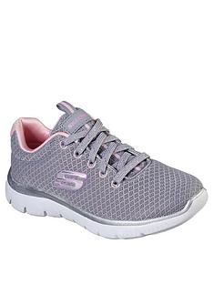 skechers-summits-simply-special-lace-trainer-grey