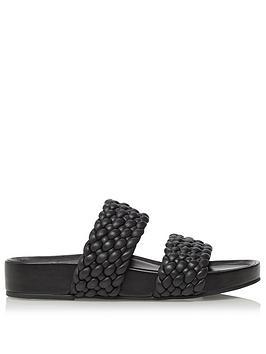 dune-london-laylow-flat-sandal-black