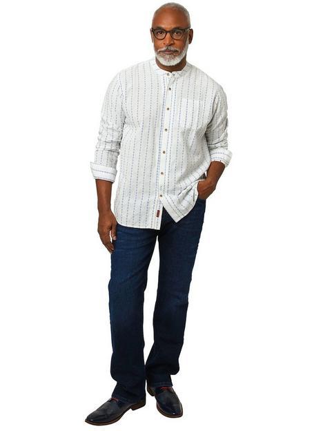 joe-browns-blue-stripe-grandad-shirt-white
