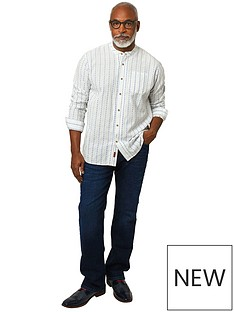 joe-browns-blue-stripe-grandad-shirt-white