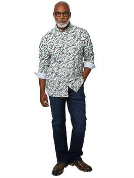 Joe Browns Funky Floral Shirt - Green/Multi, Green Multi, Size 2Xl, Men