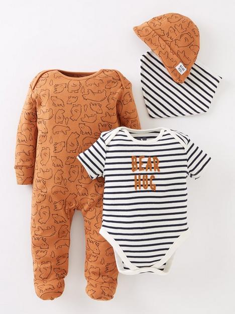 mini-v-by-very-baby-boys-4-pack-bear-hugs-gift-setnbsp--multi