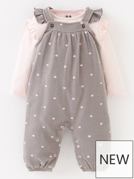 mini-v-by-very-baby-girls-heart-sweat-dungaree-and-long-sleevenbsptop-set-pinkgrey
