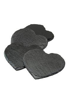 apollo-slate-heart-set-of-4-coasters