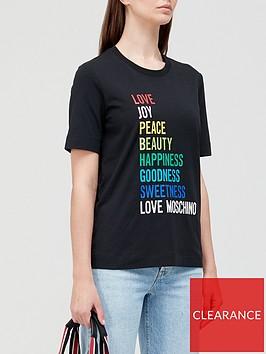 love-moschino-rainbow-logo-t-shirt-black