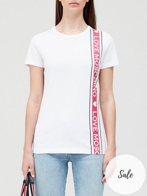 love-moschino-logo-tape-t-shirtnbsp--white