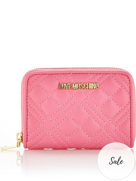 love-moschino-mininbspquiltednbspzip-around-purse-bubblegum-pink