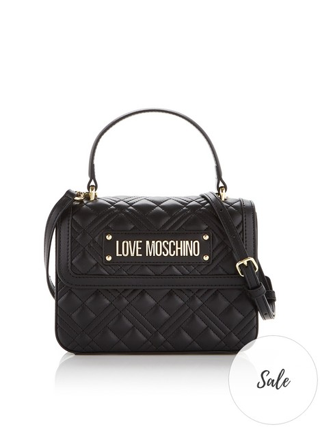 love-moschino-quilted-top-handle-cross-body-bag-black