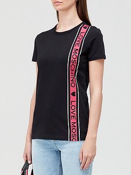 love-moschino-logo-tape-t-shirt-black