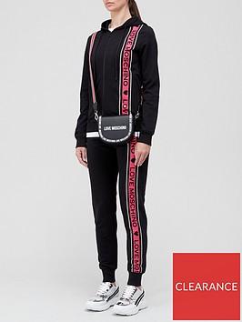 love-moschino-side-panel-logonbsptracksuit-black