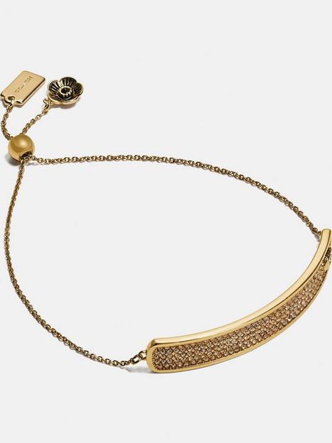coach-pave-slider-bracelet-gold